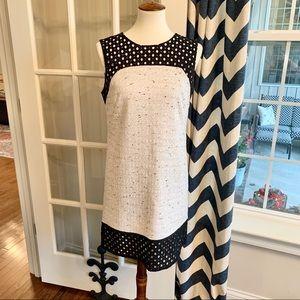 Ann Taylor Lattice and Tweed Dress - EUC
